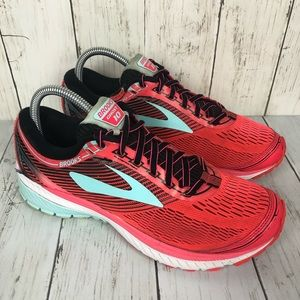 Brooks Ghost 10 Red Running Shoes Womens